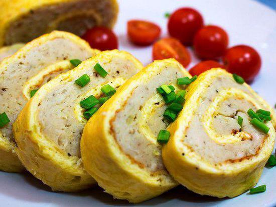 chicken omelette roll recipe