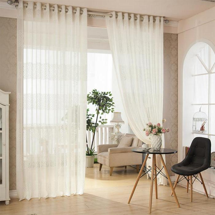 curtains tulle