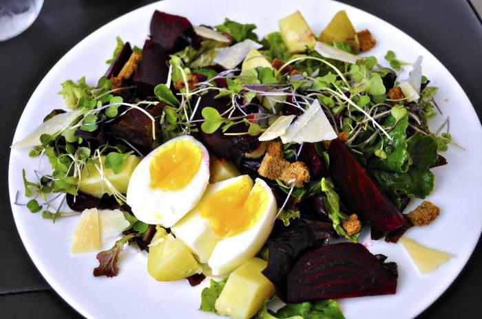 salad of boiled beets without mayonnaise