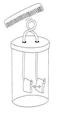principle of operation of the electroscope