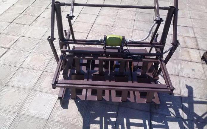станок для производства шлакоблоков команч