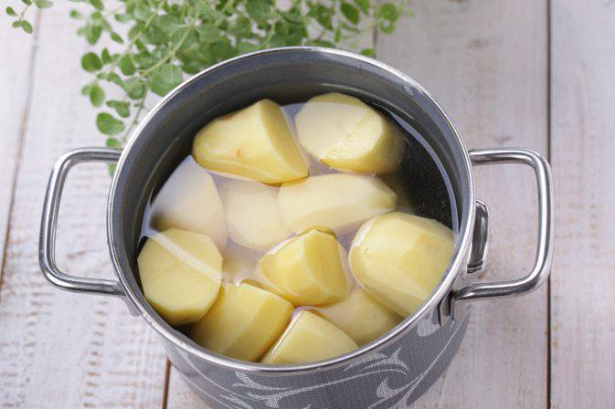 whether to salt the potatoes when cooking