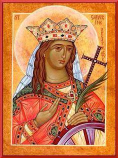 Icon of Catherine the Great Martyr in what helps