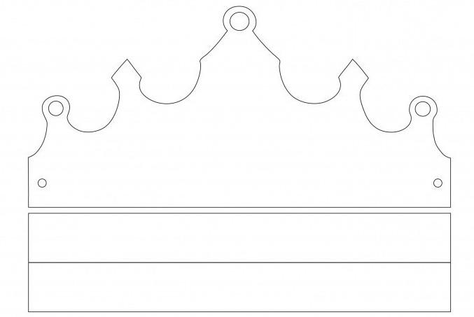 выкройка короны для принцессы
