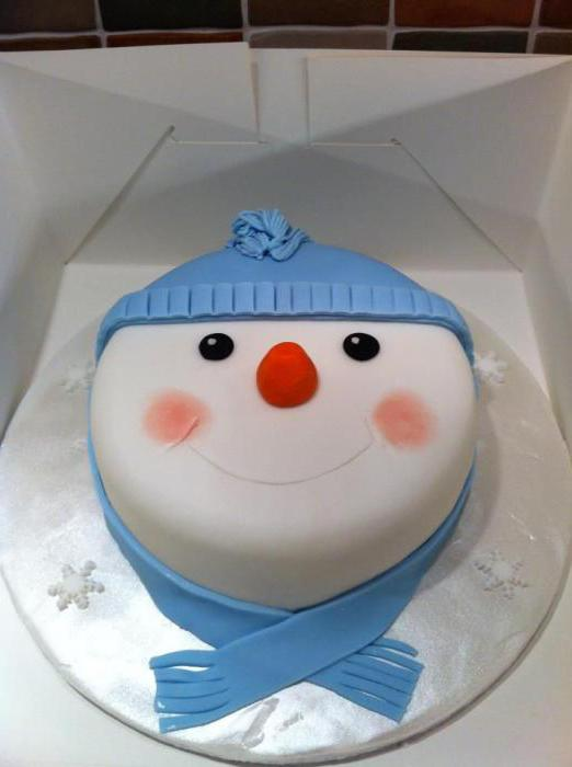 how to make a cake in the form of a snowman
