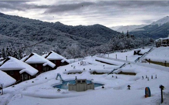 ski resorts of Krasnodar Region list