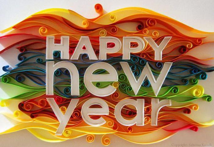 children's crafts New Year's cards