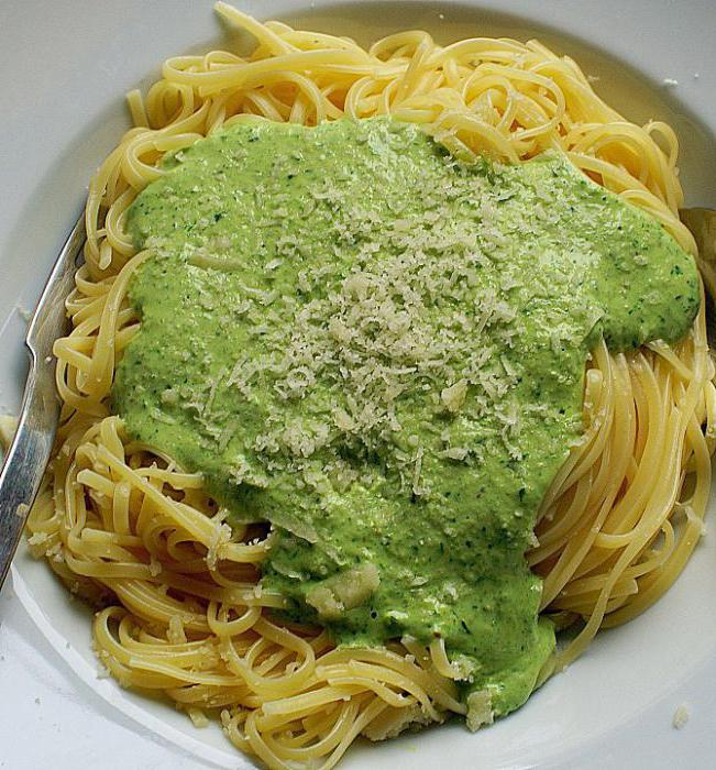 spaghetti in cream sauce recipe with photos