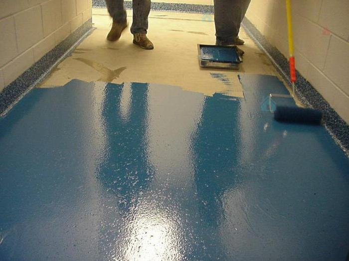 how to paint a concrete floor in the garage