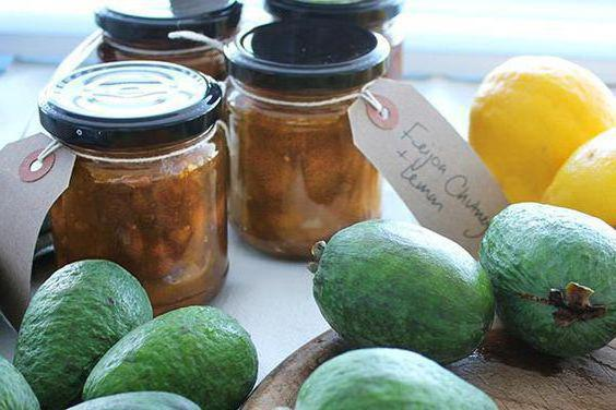 Feijoa recipe with sugar without cooking