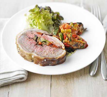 dish lamb saddle recipe