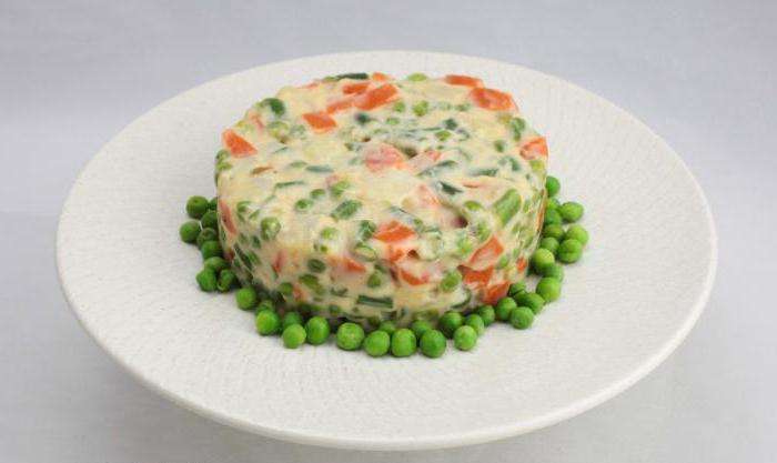 vegetarian salad olivier recipe with photos