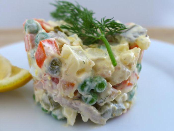 Olivier salad vegetarian recipe