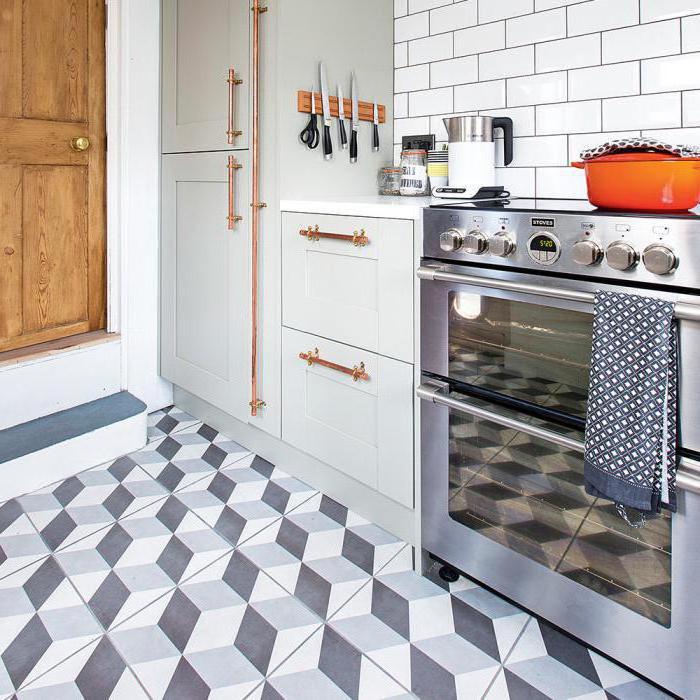 warm floor in the kitchen