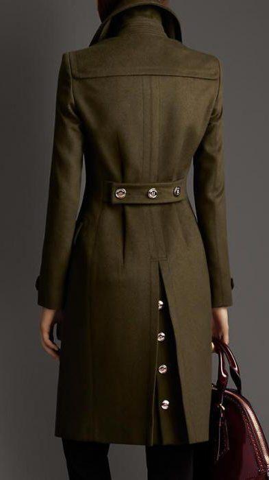 coat military style female
