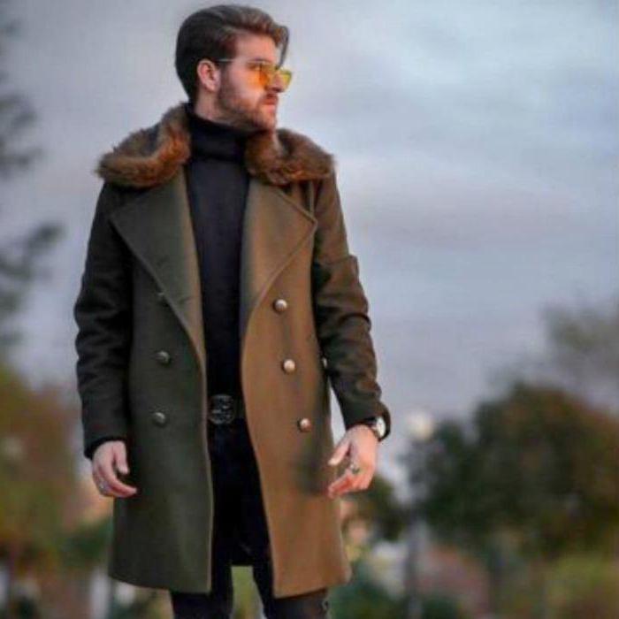 men's military style coat
