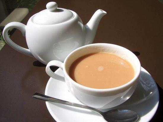 tea with milk and honey