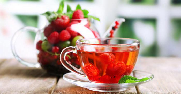 tea with raspberries for colds