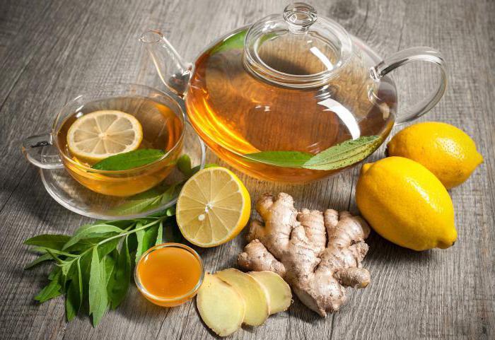Чай для похудения с имбирем и лимоном