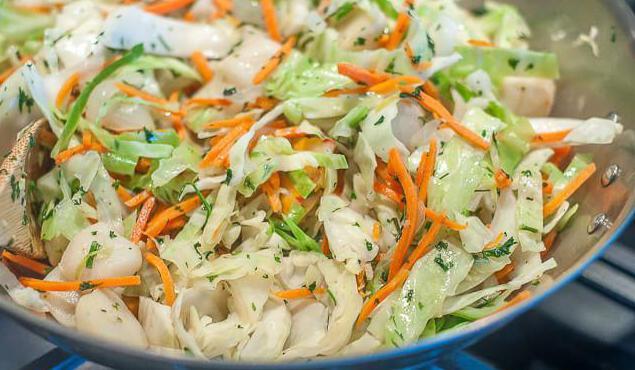salad squid korean carrot cucumber