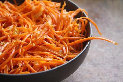 Calamari and Korean Carrot Salad