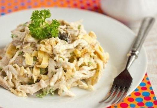 salad with scrambled eggs recipe