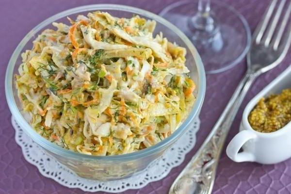 salad with scrambled eggs and smoked chicken recipe