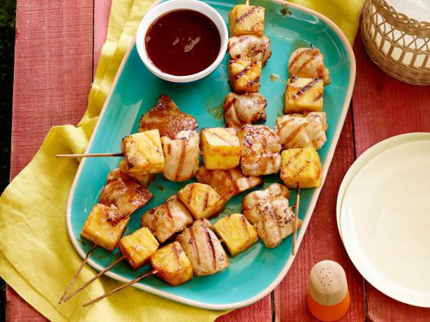 chicken with pineapples and cheese in the oven