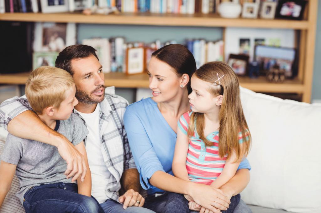 Для детей, семейный совет смешная картинка