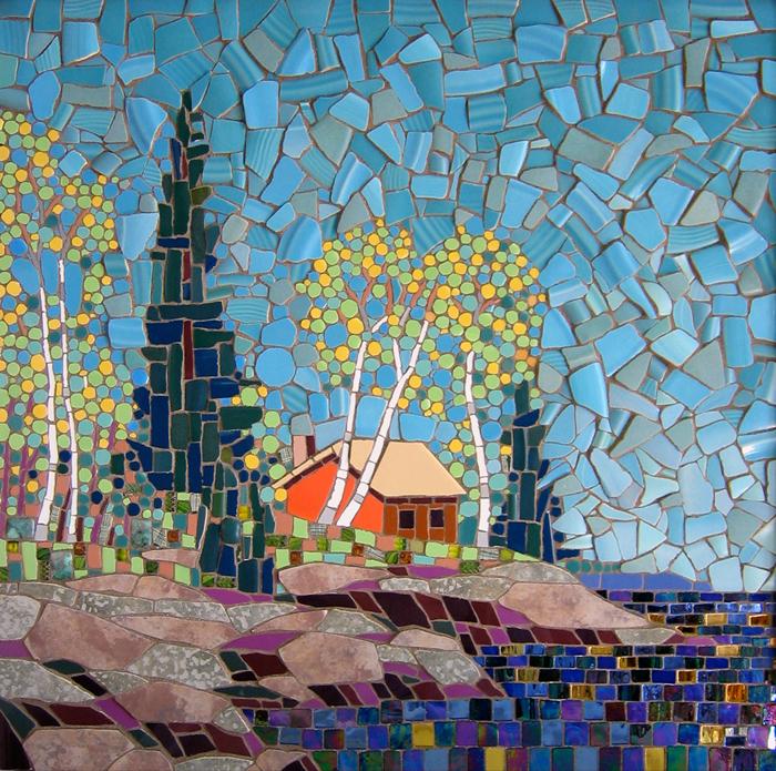 Landscape of the elements of ceramic tiles