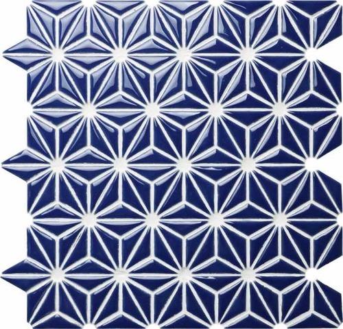 Ceramic mosaic of geometric elements