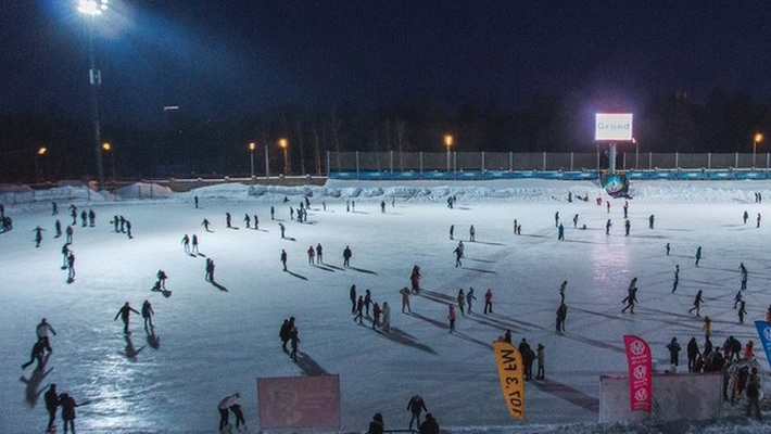ice rink at the stadium