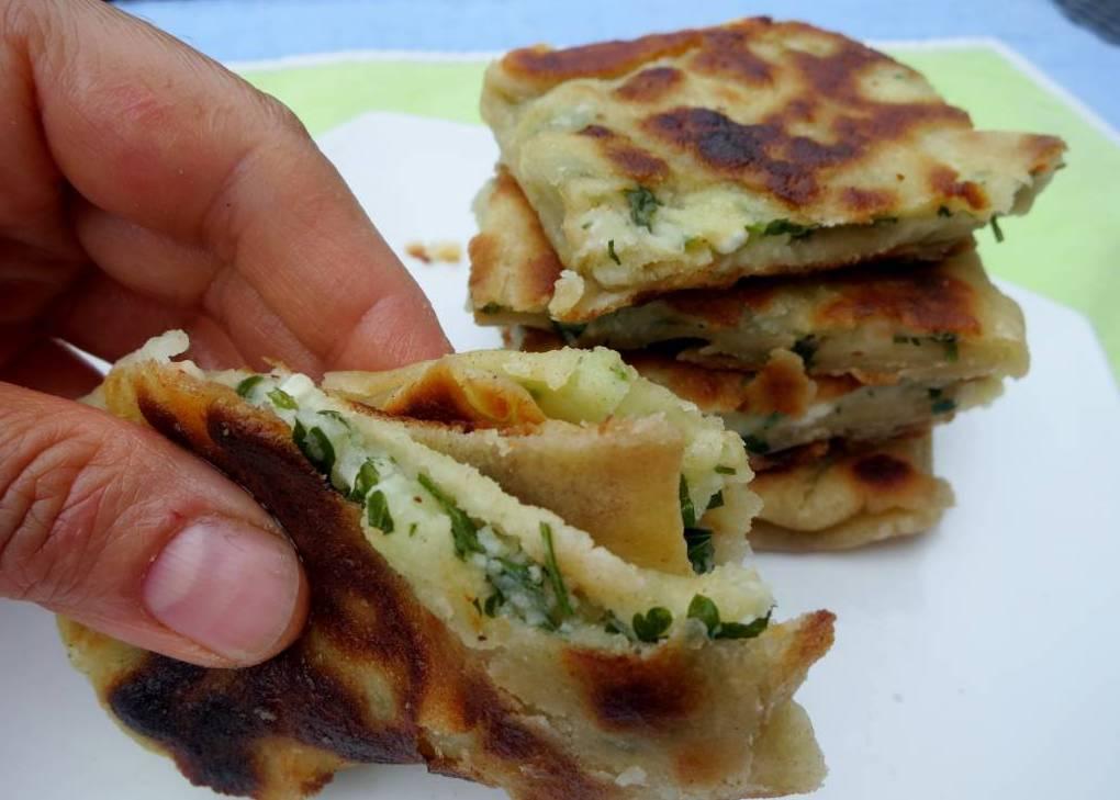 Turkish flatbread gozleme recipe