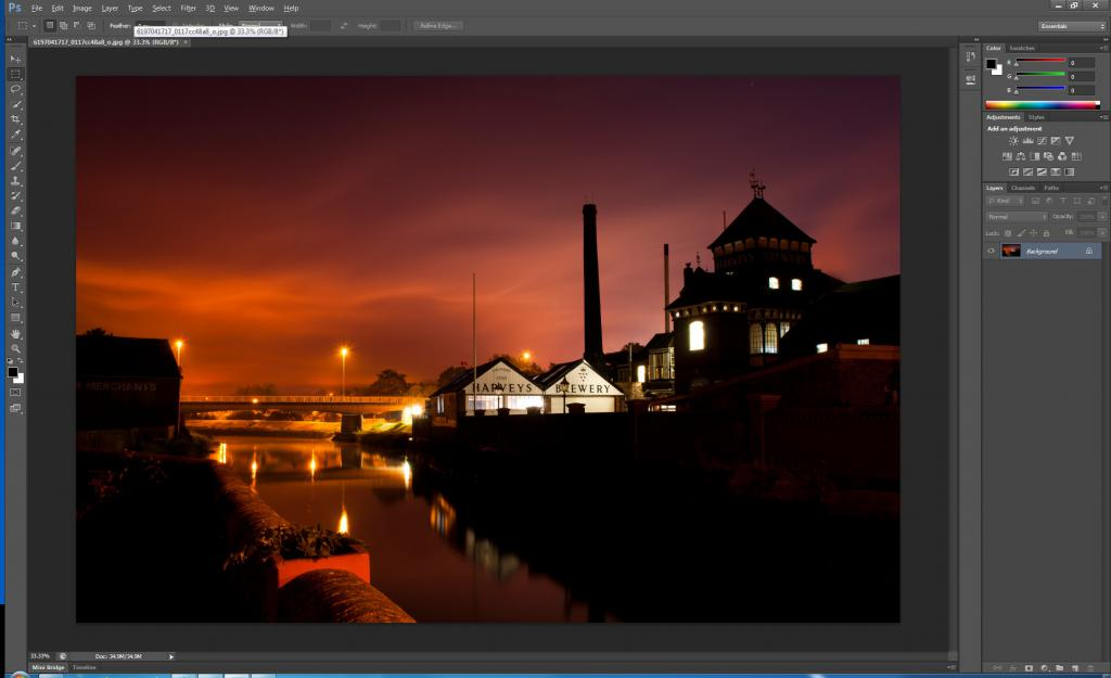Adobe Photoshop interface