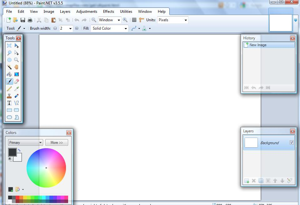 Paint.Net interface