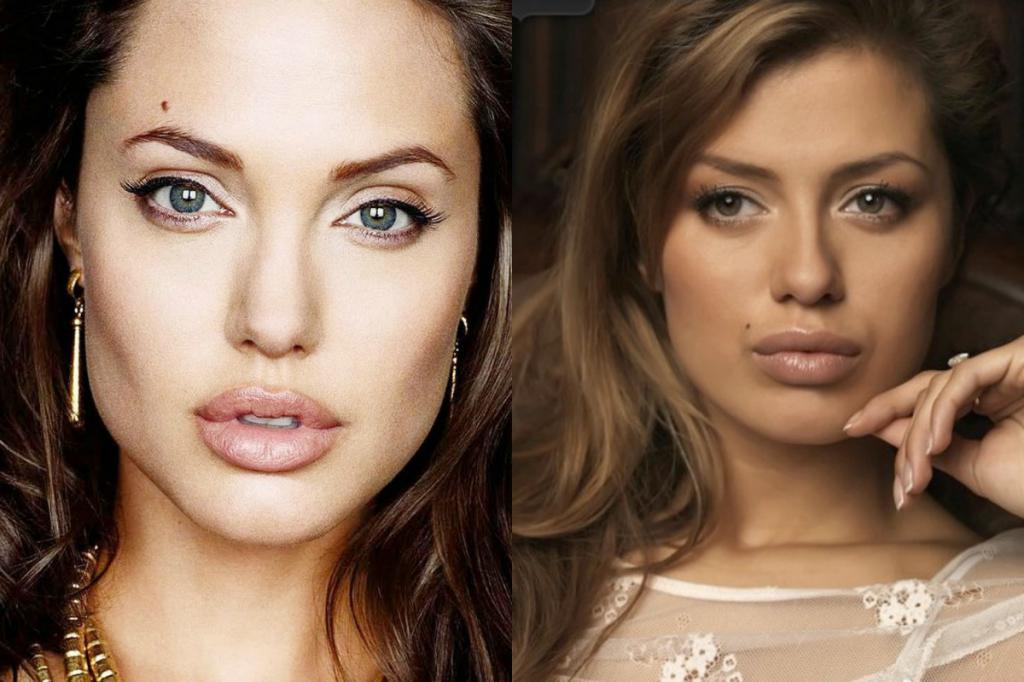 Angelina Jolie and Victoria Bonya
