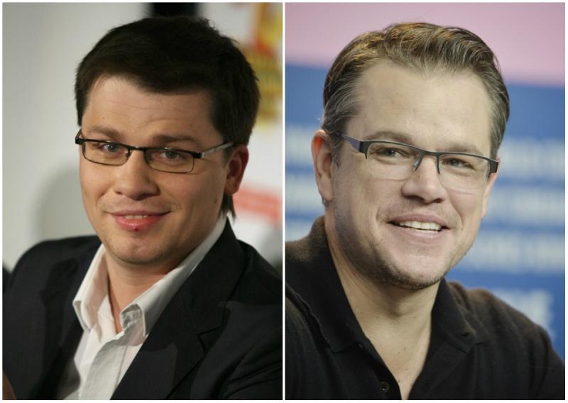 Garik Kharlamov and Matt Damon