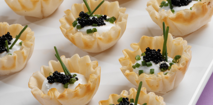 Black Caviar Tartlets