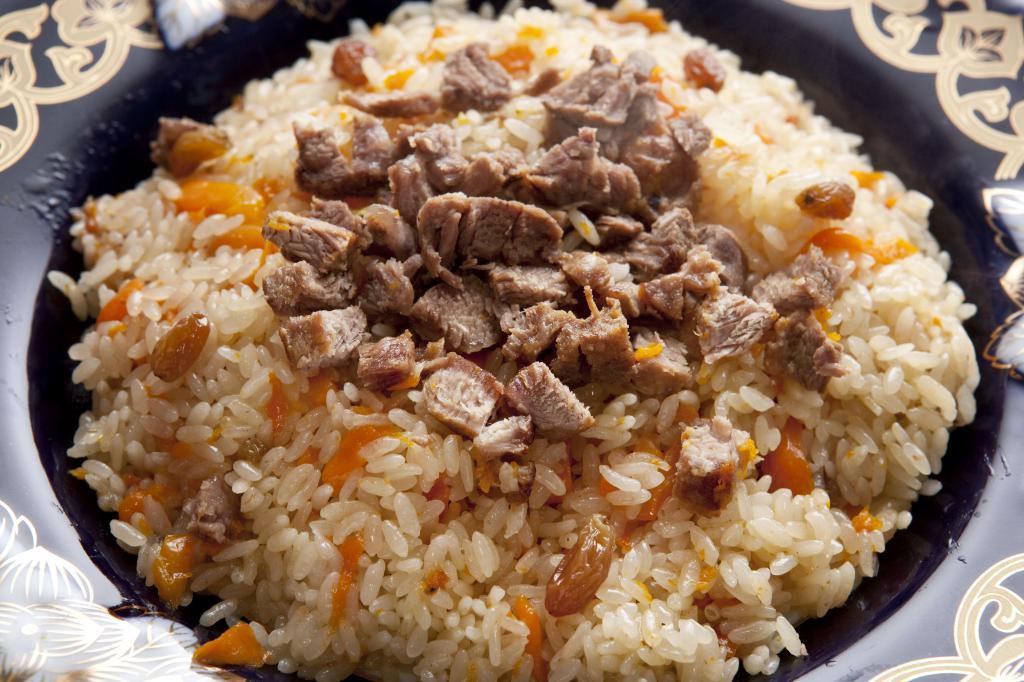 Tajik plov in a cauldron step by step recipe
