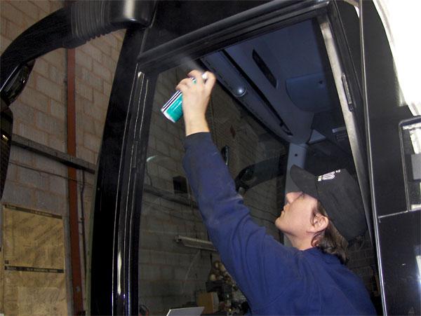 silicone sprays application