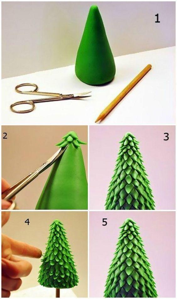 how to make a tree of plasticine