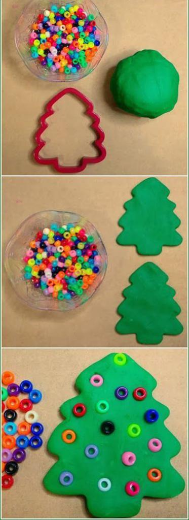 tree of plasticine with their own hands