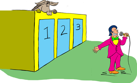 an analysis of the monty hall problem derived from a similar dilemma in lets make a deal