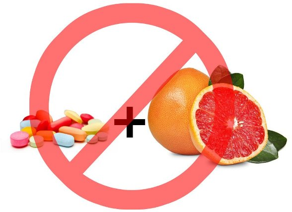 grapefruit is incompatible with drugs