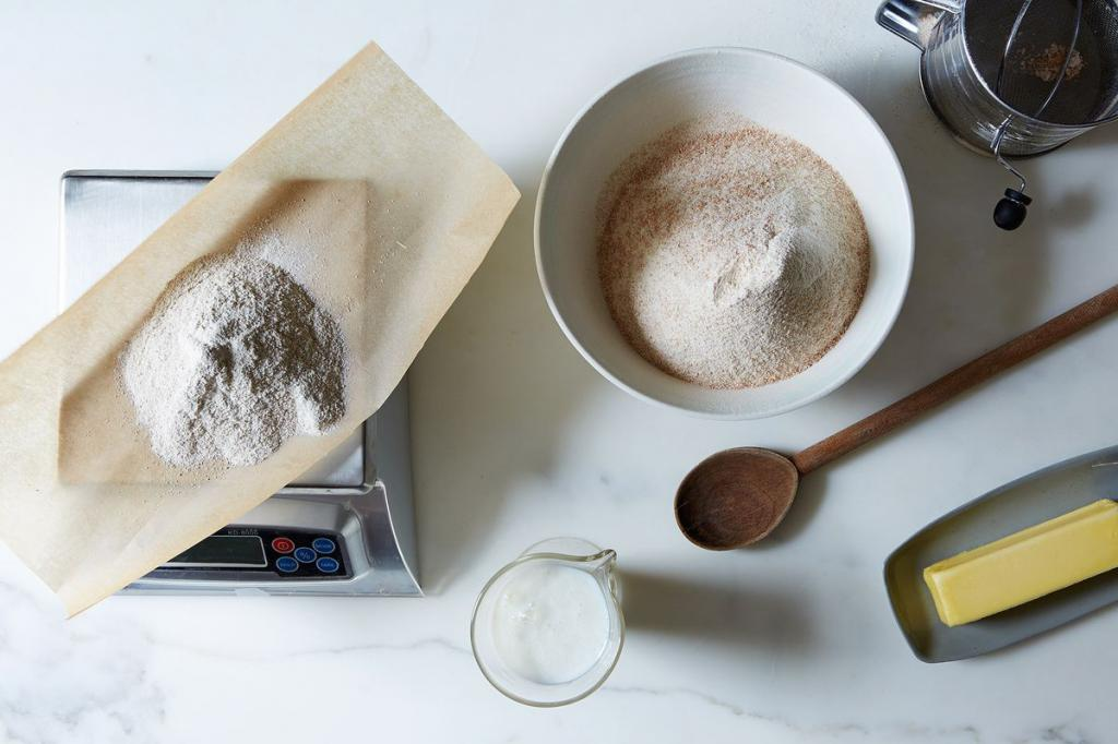 we measure flour with spoons