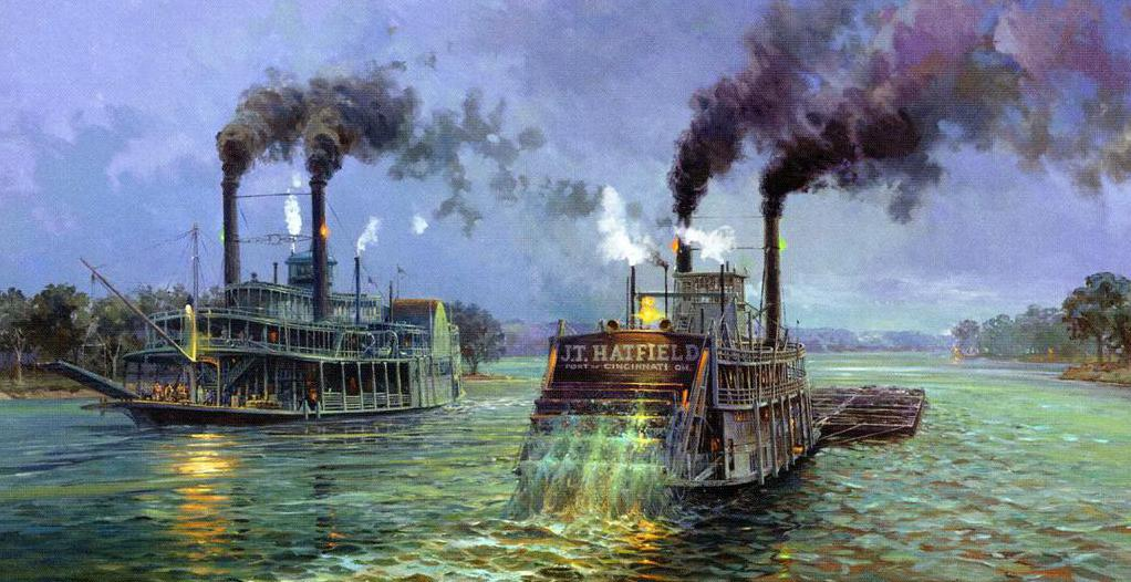 Steamboats in mississippi