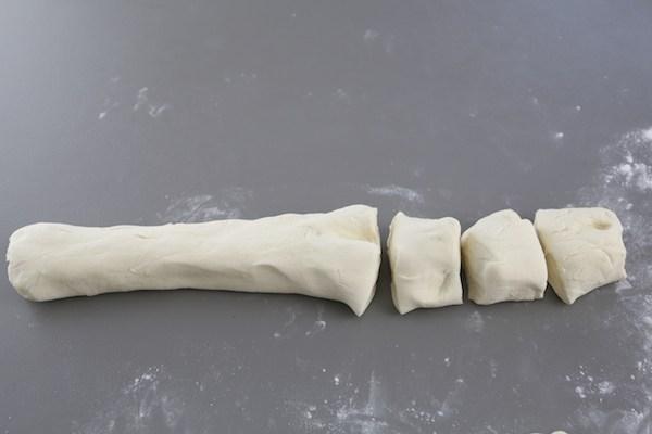 Dividing dough into pieces