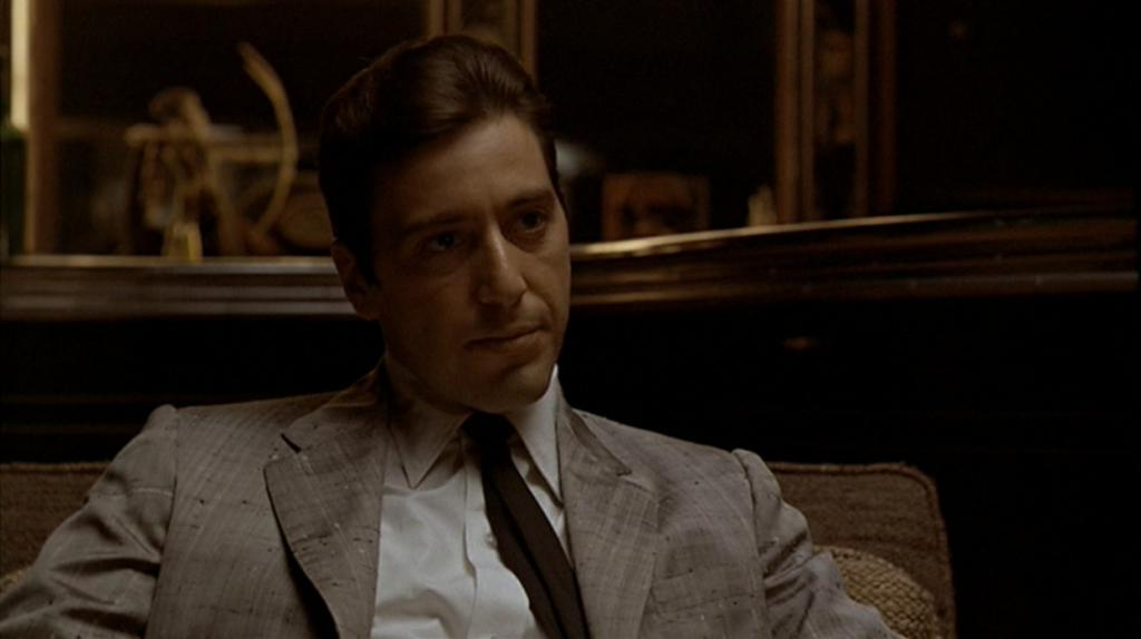"Frame from the film ""The Godfather"", the second part"