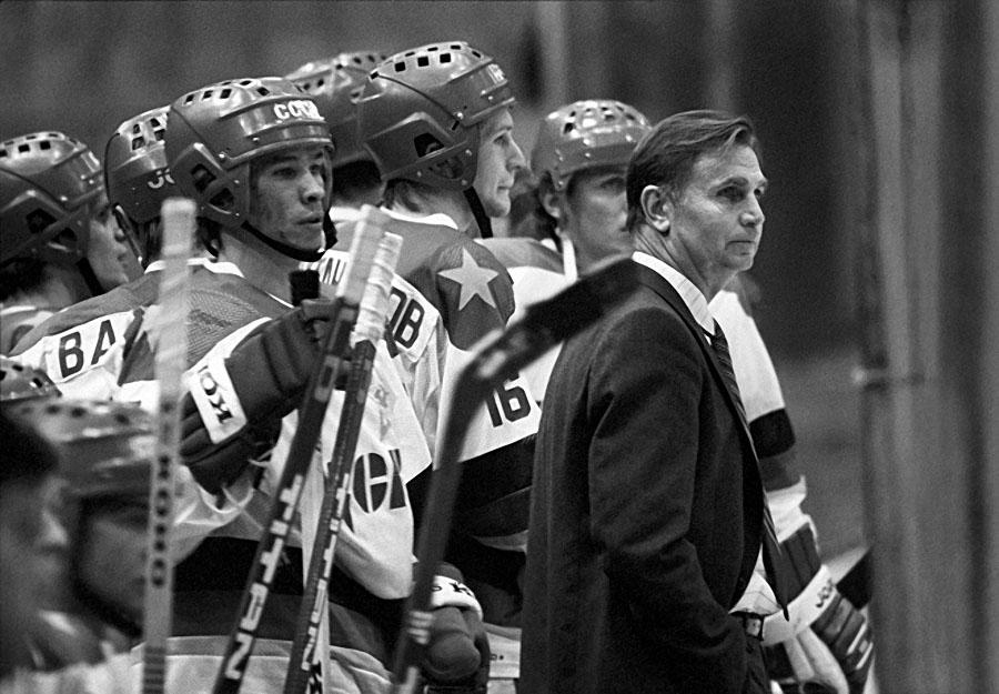 Coach of CSKA hockey team