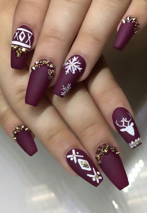 how to draw a snowflake on nails gel varnish